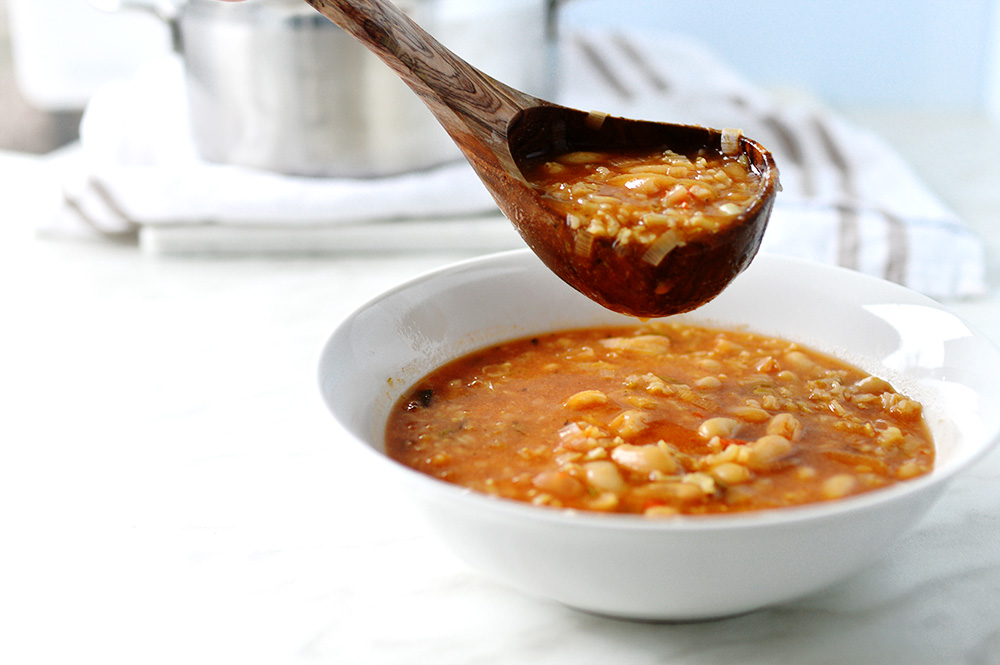 white beans & rice soup