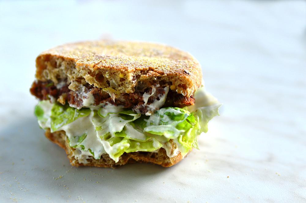 vegan oil-free burger