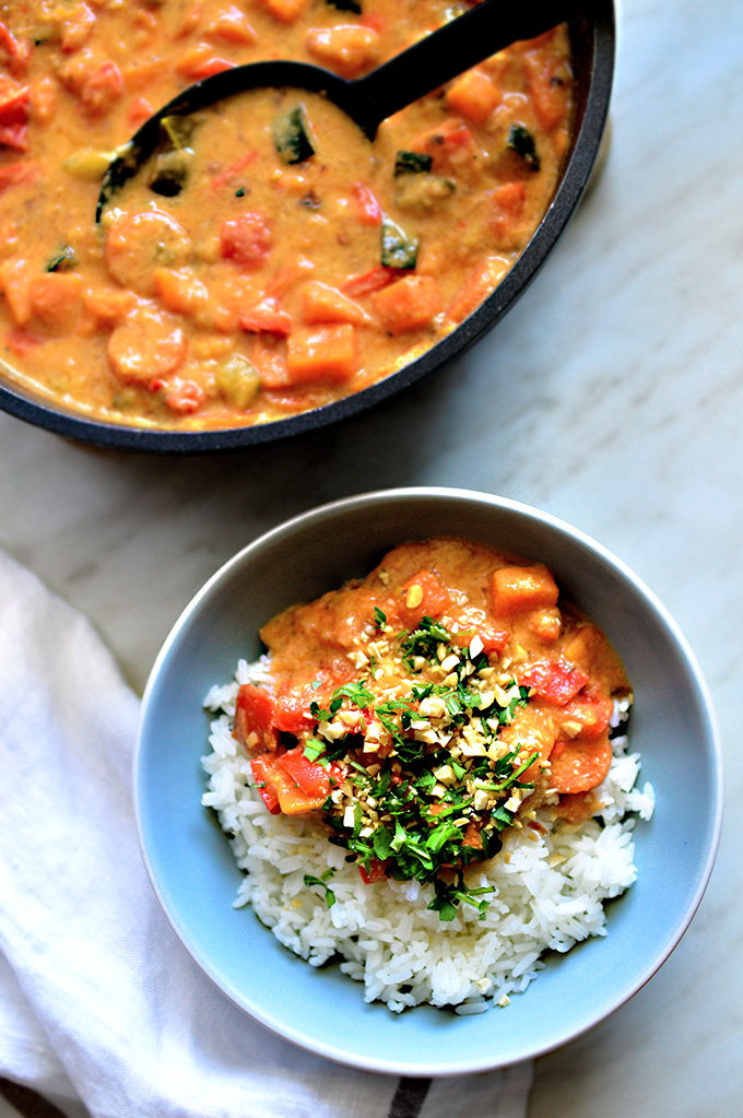 Vegan Oil-Free Peanut & Red Thai Curry