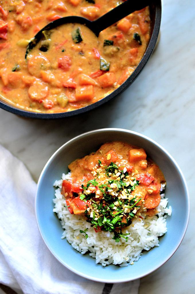 Vegan Oil-Free Peanut & Red Thai Curry