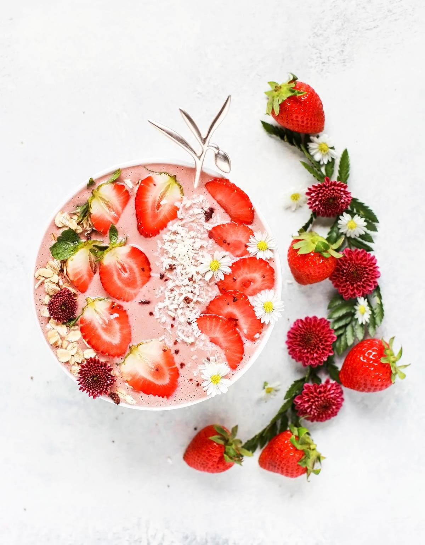 porridge con fresas