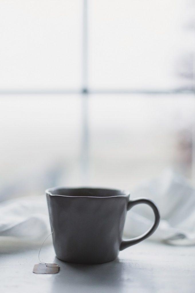taza de té caliente